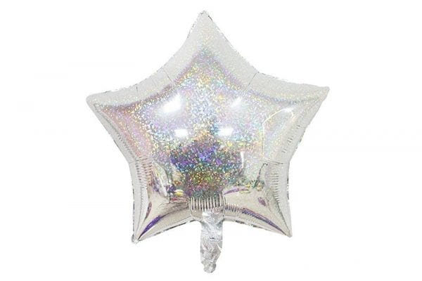 בלון מיילר בצורת כוכב בצבע כסף דזלר