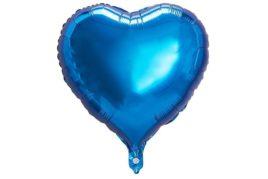 בלון מיילר בצורת לב בצבע כחול