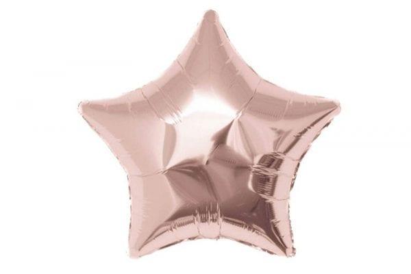 בלון מיילר בצורת כוכב בצבע רוז-גולד