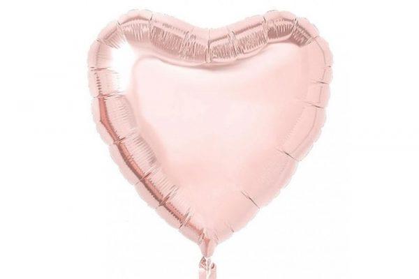 בלון מיילר בצורת לב בצבע רוז-גולד