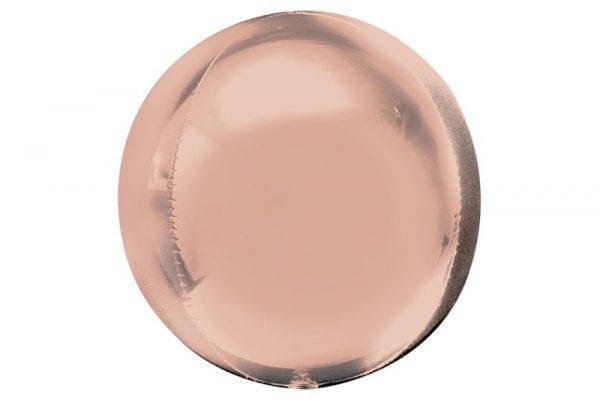 בלון מיילר עגול בועה בצבע רוז-גולד