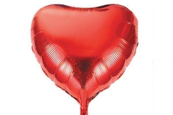 בלון מיילר בצורת לב בצבע אדום