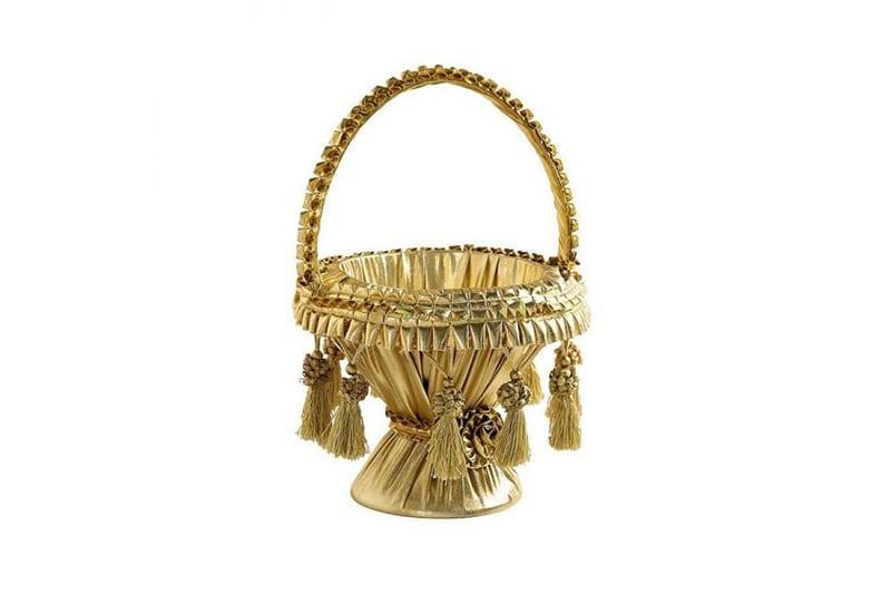 סלסלה לחינה דגם מרוקו זהב
