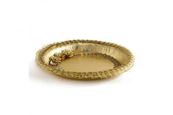 מגש לחינה מהודר בצבע זהב