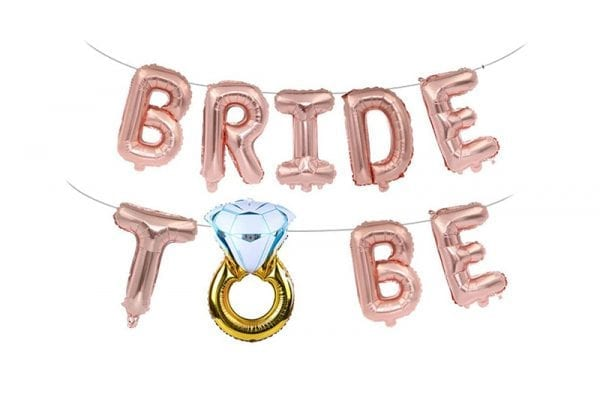 אותיות B2B רוז גולד וטבעת