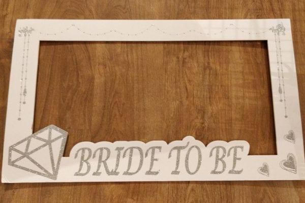 מסגרת צילום לבנה Bride To Be
