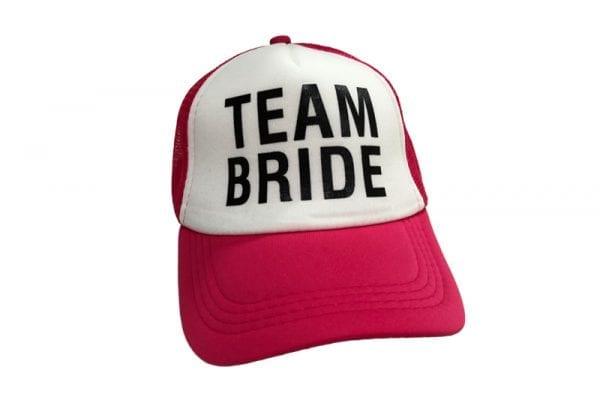 כובע רשת Team Bride ורוד