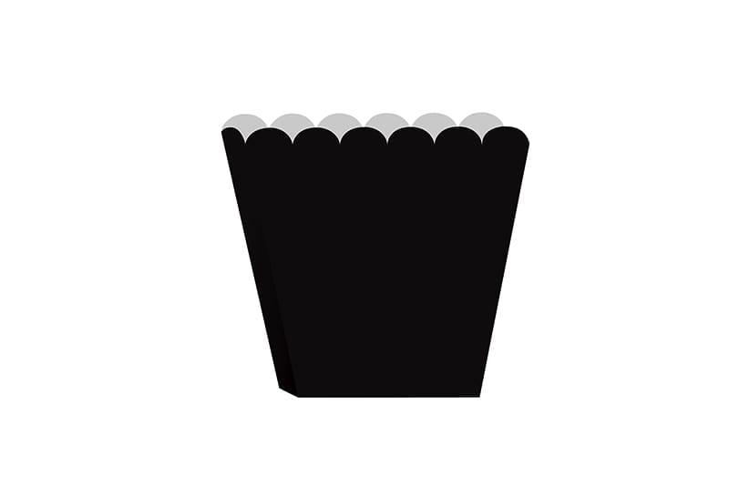 קופסאות פופקורן שחור