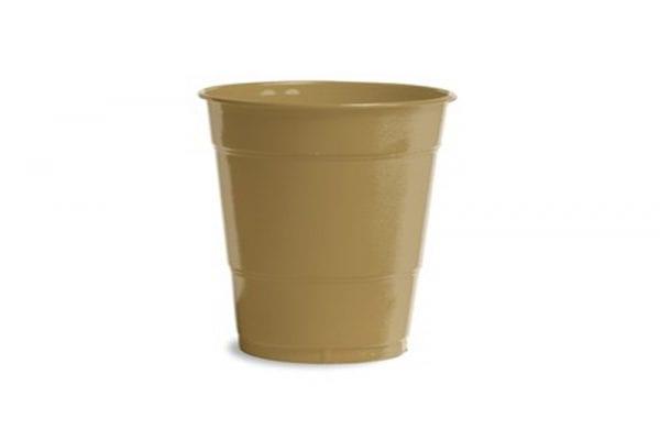 כוסות פלסטיק זהב
