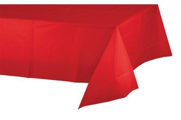 מפת שולחן אדומה