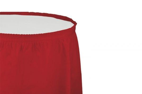 חצאית שולחן - אדום