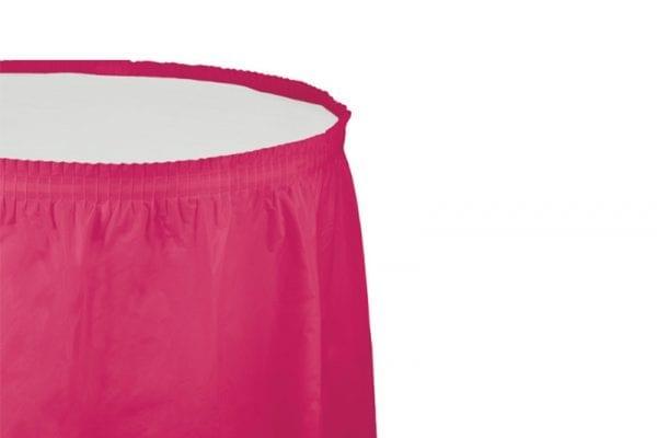 חצאית שולחן - ורוד פוקסיה