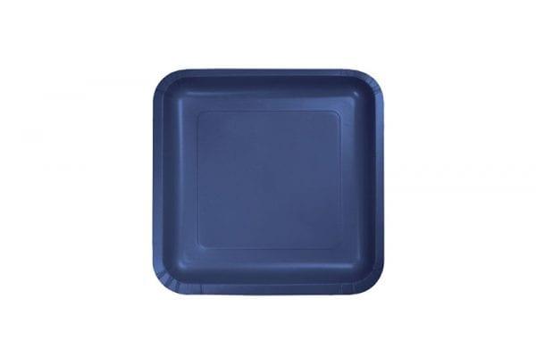 צלחות מרובעות קטנות כחול