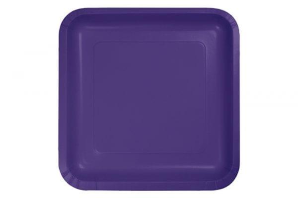 צלחות מרובעות גדולות סגול