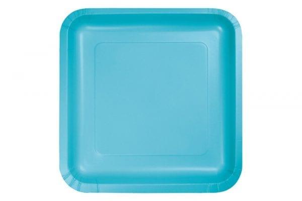 צלחות מרובעות כחול ברמודה