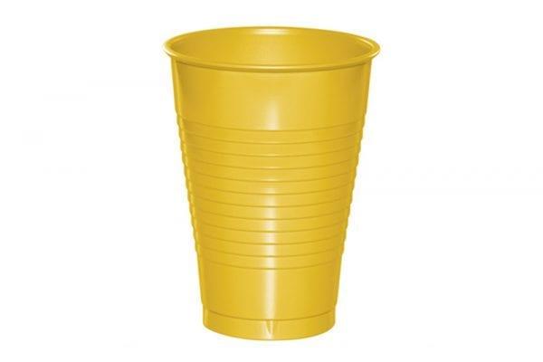 כוסות פלסטיק צהוב