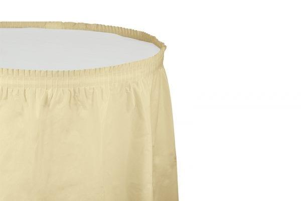 חצאית שולחן - שמנת