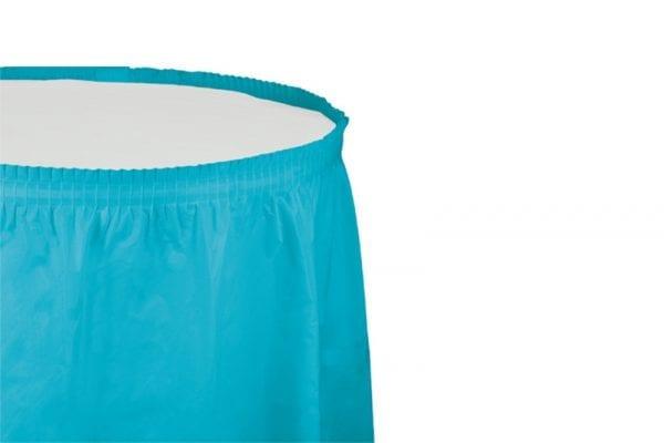 חצאית שולחן - כחול ברמודה