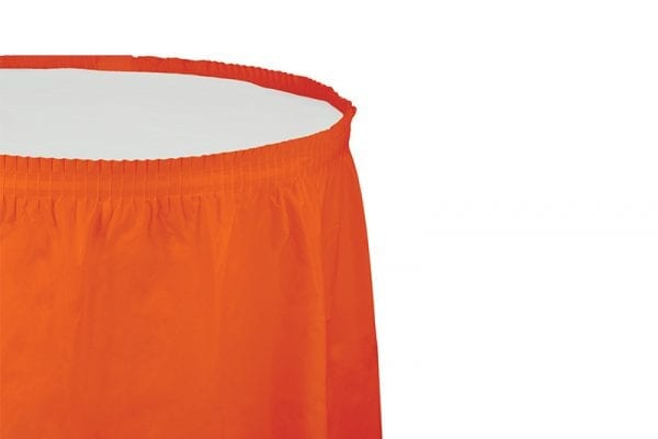 חצאית שולחן - כתום