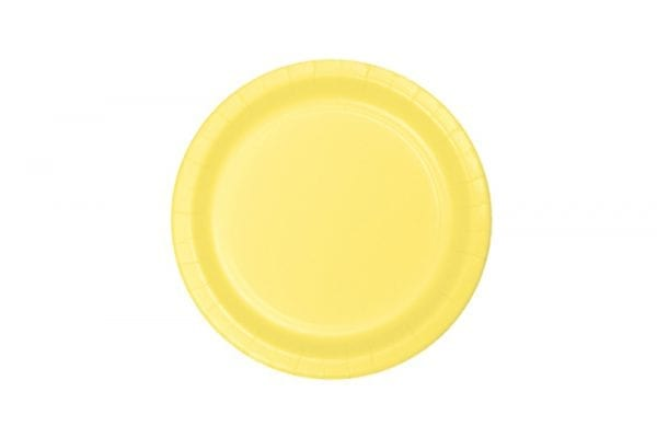 צלחות חד פעמי עגולות קטנות - בננה