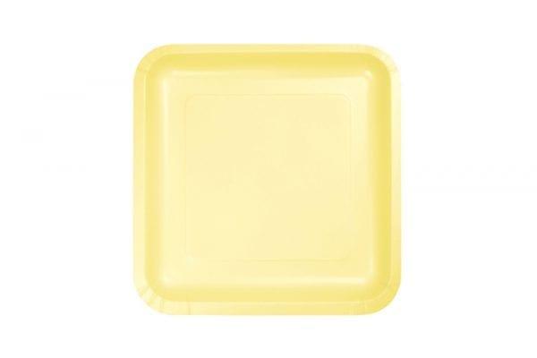 צלחות מרובעות קטנות צהוב