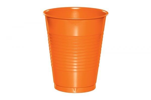 כוסות פלסטיק - כתום