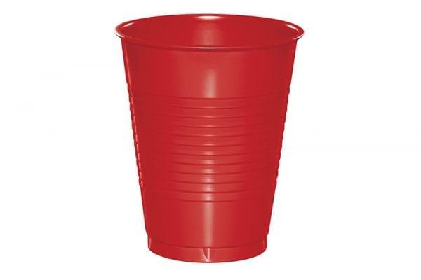 כוסות פלסטיק אדום