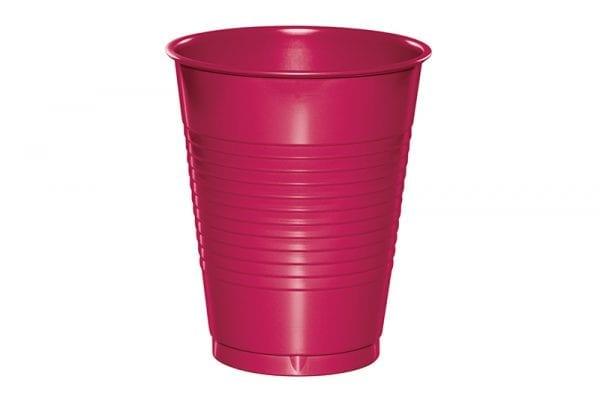 כוסות פלסטיק ורוד פוקסיה