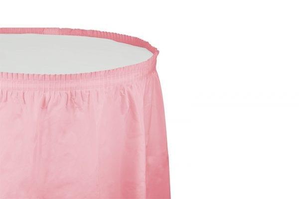 חצאית שולחן - ורוד בייבי