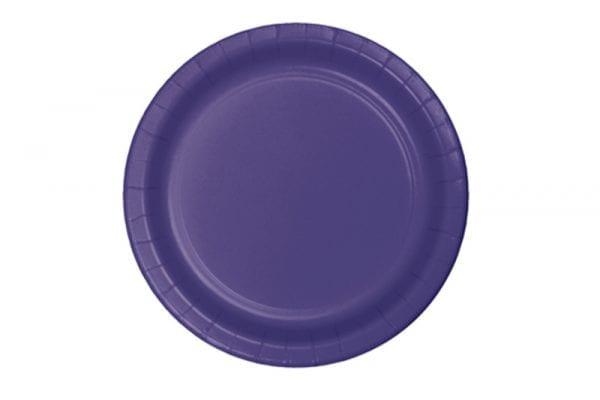 צלחות חד פעמי עגולות גדולות - סגול