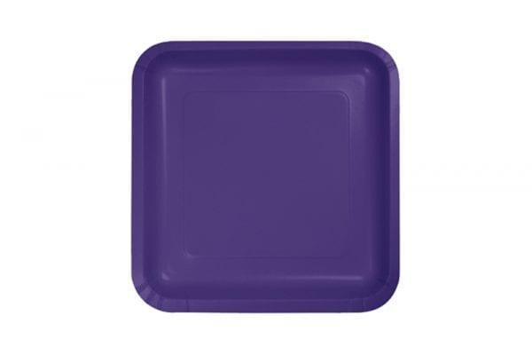 צלחות מרובעות קטנות סגול