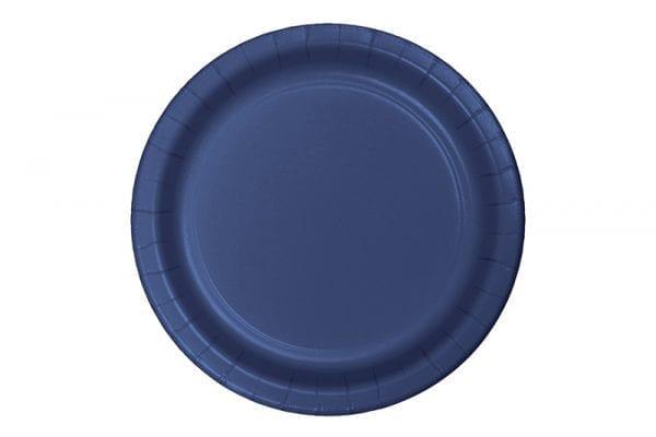 צלחות חד פעמי עגולות גדולות - כחול