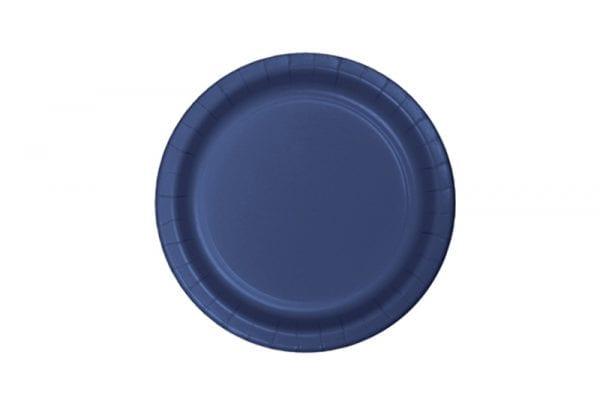 צלחות חד פעמי עגולות קטנות - כחול