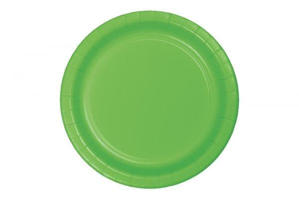 צלחות חד פעמי ירוקות גדולות