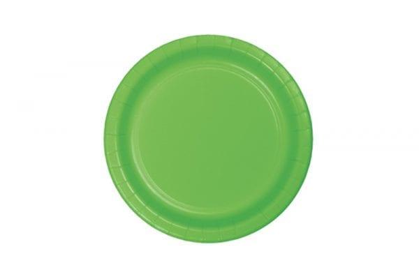צלחות חד פעמי ירוק