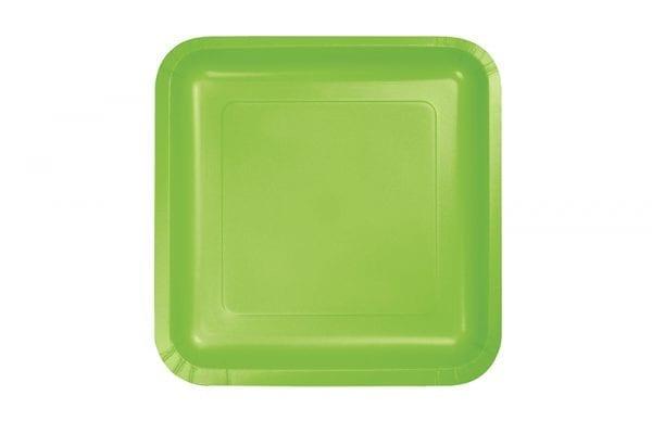 צלחות חד פעמי ירוק גדולות