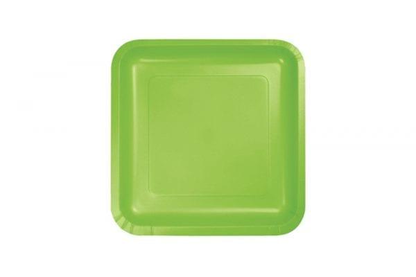 צלחות חד פעמי מרובעות קטנות