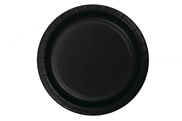 צלחות שחורות עגולות