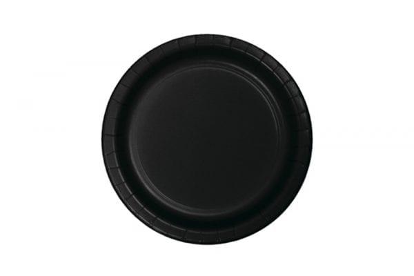 צלחות שחורות עגולות קטנות