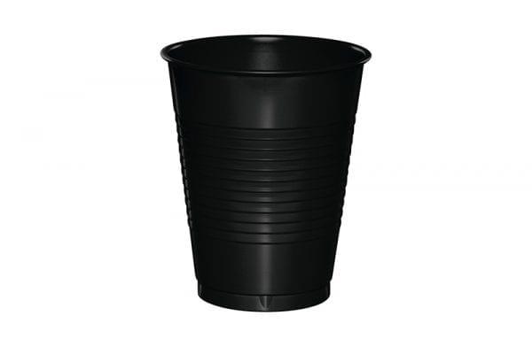 כוסות פלסטיק שחורות