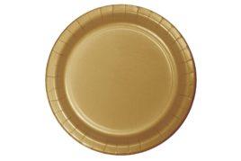 צלחות חד פעמי עגולות זהב