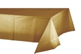 מפת שולחן בצבע זהב