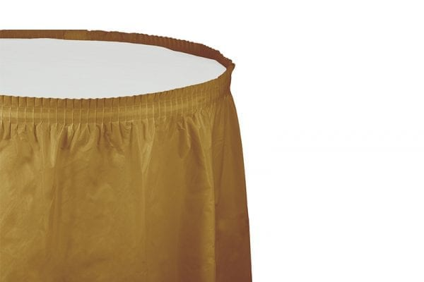 חצאית שולחן זהב