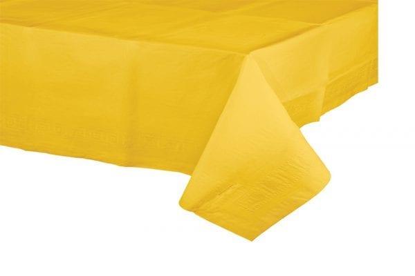 מפת שולחן צהובה