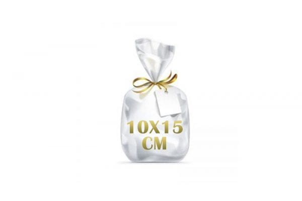 """שקיות צלופן - 10X15 ס""""מ"""