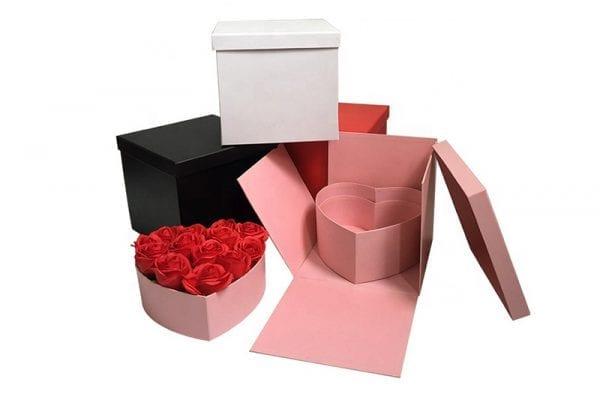 קופסת מתנה נפתחת - Heart Shape