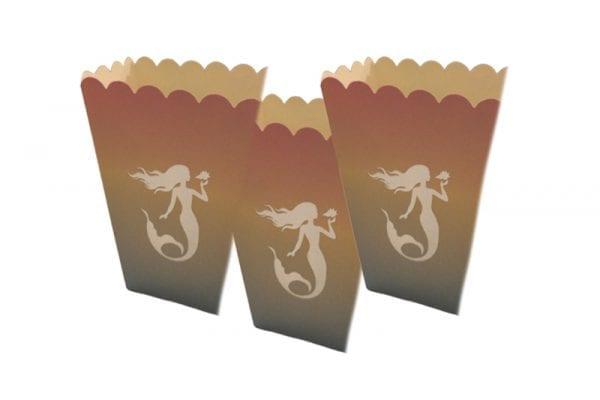קופסאות פופקורן בת הים אומברה